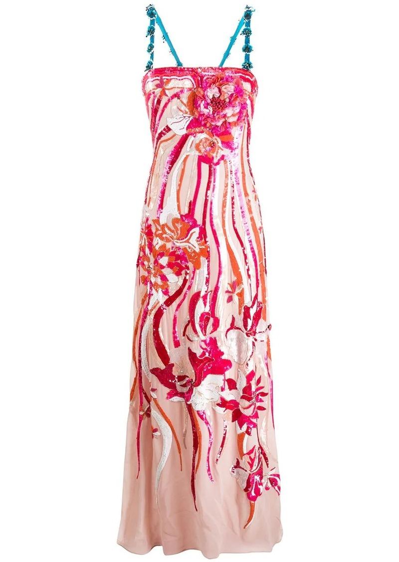 Emilio Pucci sequined floral appliqué dress