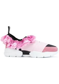 Emilio Pucci sequinned frill trim sneakers