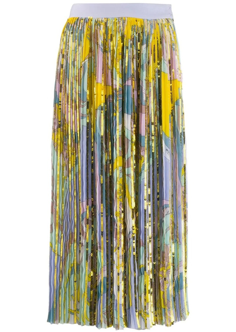 Emilio Pucci sequinned printed skirt