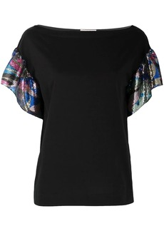 Emilio Pucci sequinned sleeve top