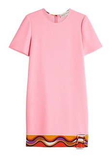 Emilio Pucci Shift Dress with Wool and Silk