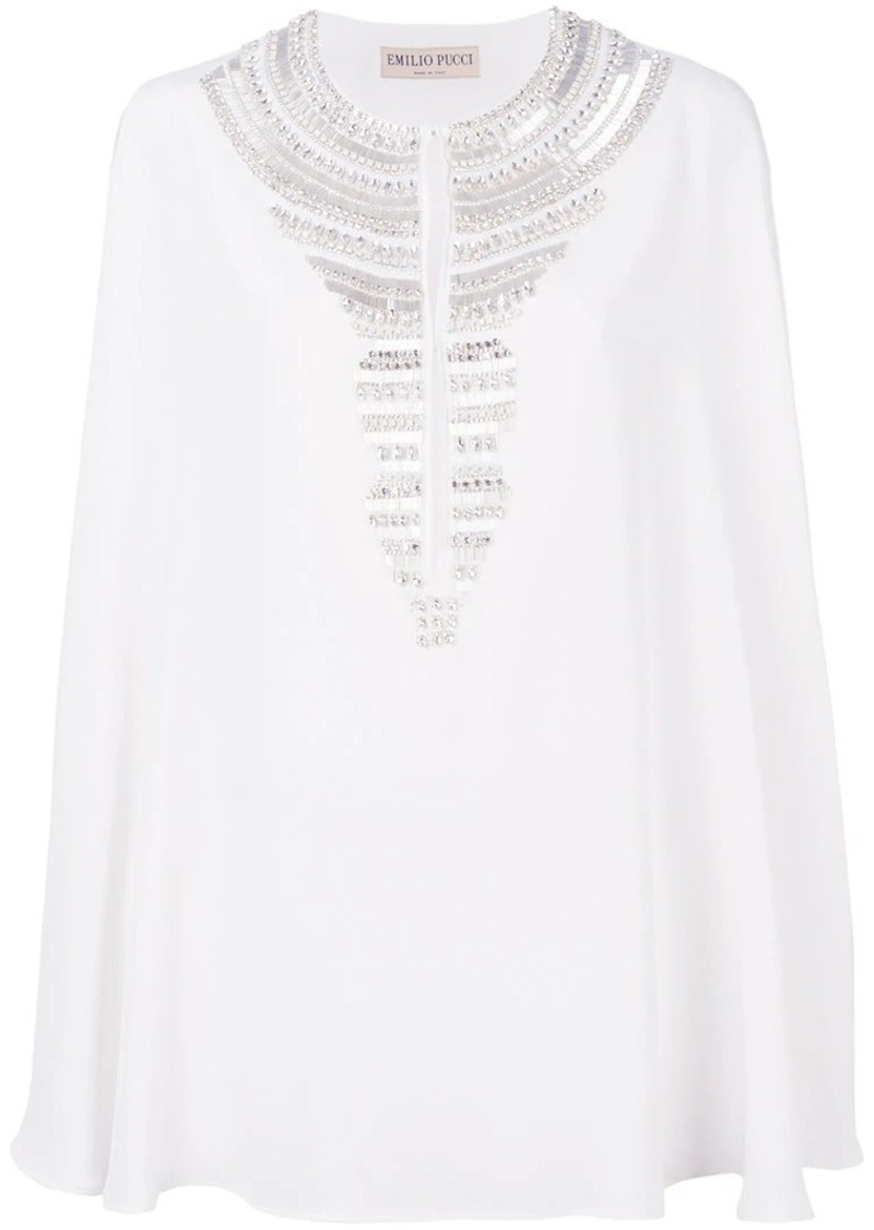 Emilio Pucci short embroidered kaftan dress
