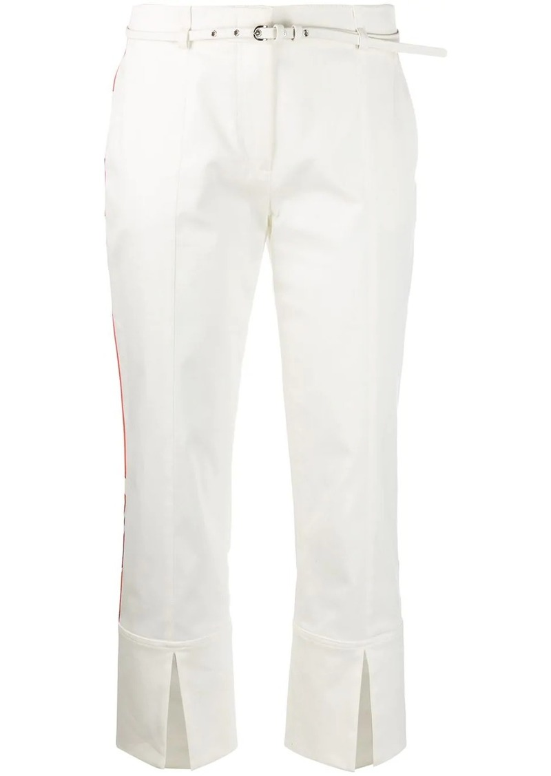 Emilio Pucci side-stripe split-hem cropped trousers
