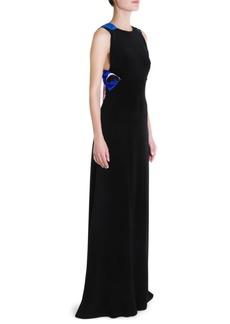 Emilio Pucci Silk Cady Bow-Back Gown