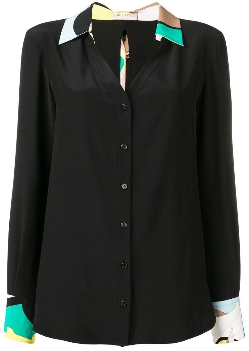 Emilio Pucci silk sash ties shirt