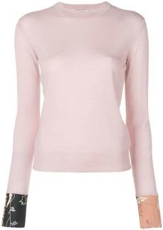 Emilio Pucci silk cuffed crew neck sweater