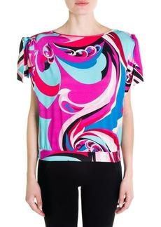 Emilio Pucci Silk Jersey Short-Sleeve Top