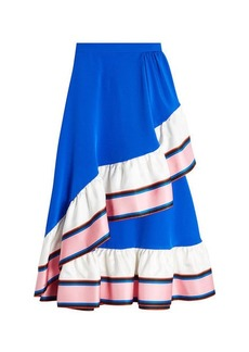 Emilio Pucci Silk Skirt with Ruffle
