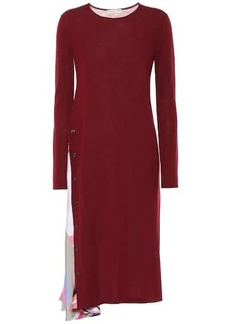 Emilio Pucci Silk-trimmed virgin wool dress