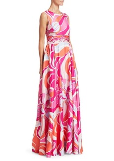 Emilio Pucci Silk Twill Printed Gown