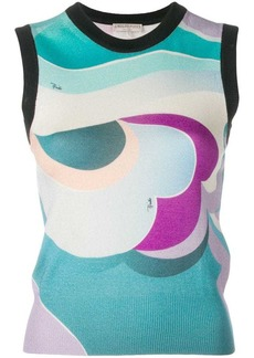 Emilio Pucci sleeveless round neck knit top