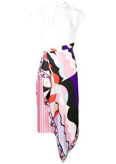 Emilio Pucci Sleeveless Vallauris Print Panel Dress