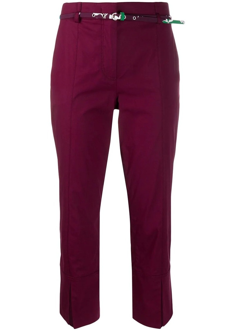 Emilio Pucci split-hem cropped trousers