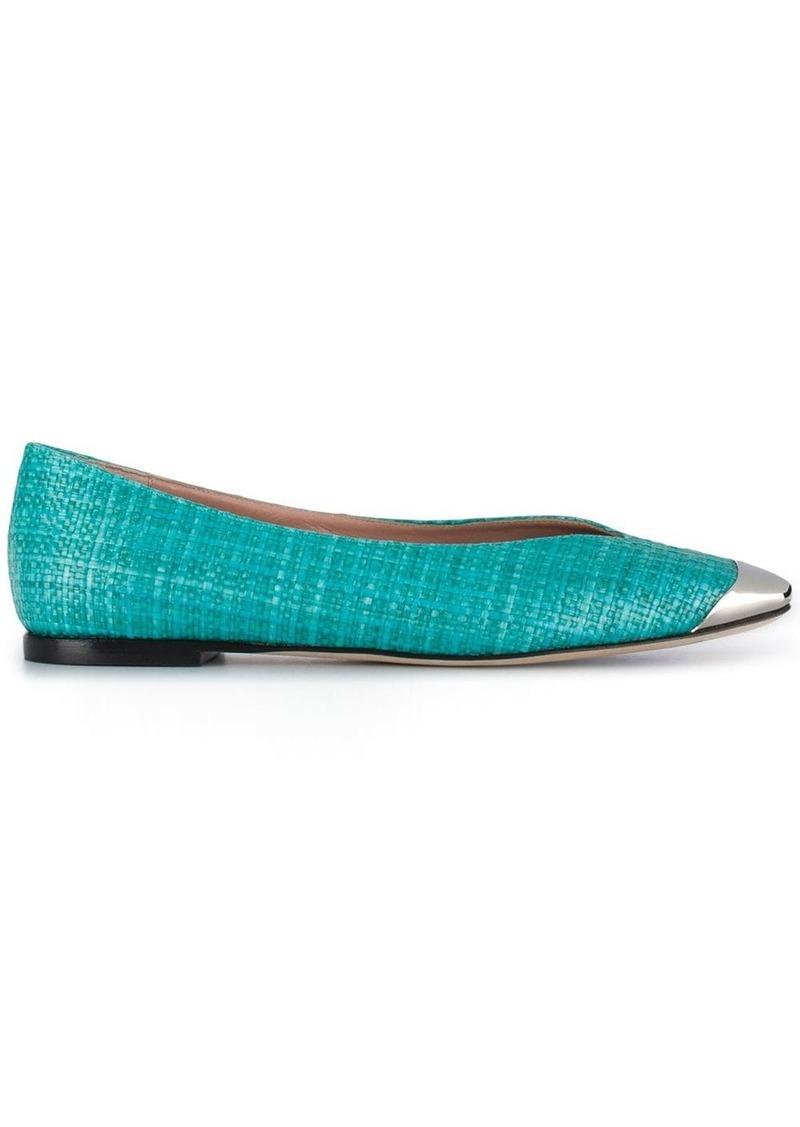 Emilio Pucci square-toe ballerina shoes