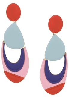 Emilio Pucci colourblock drop earrings
