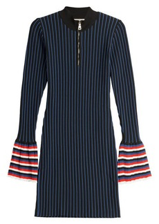 Emilio Pucci Striped Knit Dress with Contrast Cuffs