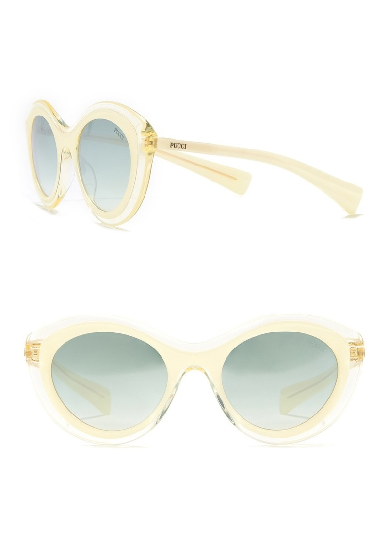 Emilio Pucci 53mm Round Sunglasses