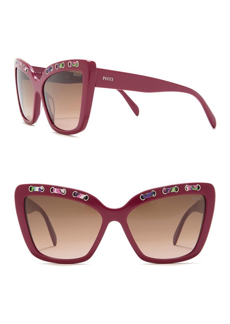 Emilio Pucci 59mm Lace Trim Cat Eye Sunglasses