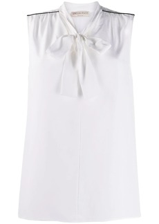 Emilio Pucci tie-neck sleeveless blouse