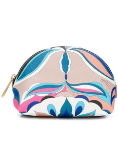 Emilio Pucci top zip makeup bag