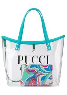 Emilio Pucci Transparent Logo Twist Tote