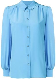 Emilio Pucci Turquoise Silk Button-Down Shirt