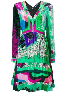 Emilio Pucci v-neck long sleeved shift