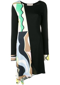 Emilio Pucci Vallauris Print Asymmetric Dress