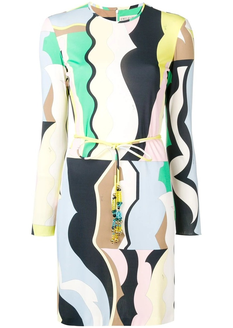 Emilio Pucci Vallauris Print Belted Dress