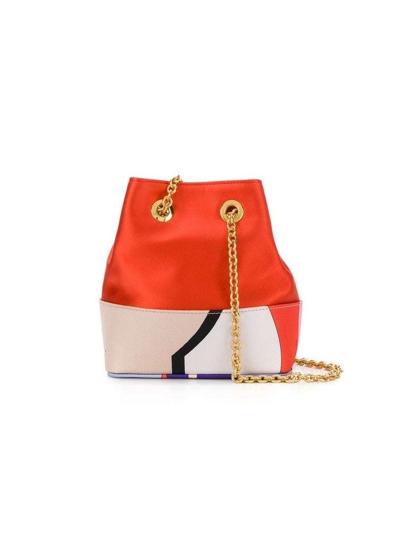 Emilio Pucci Vallauris Print Bonita Mini Bucket Bag