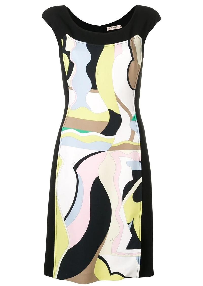 Emilio Pucci Vallauris Print Cap Sleeve Dress