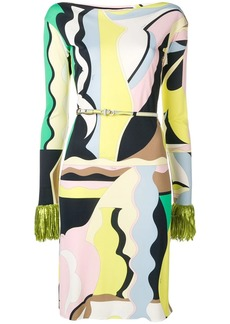 Emilio Pucci Vallauris Print Fringed Dress
