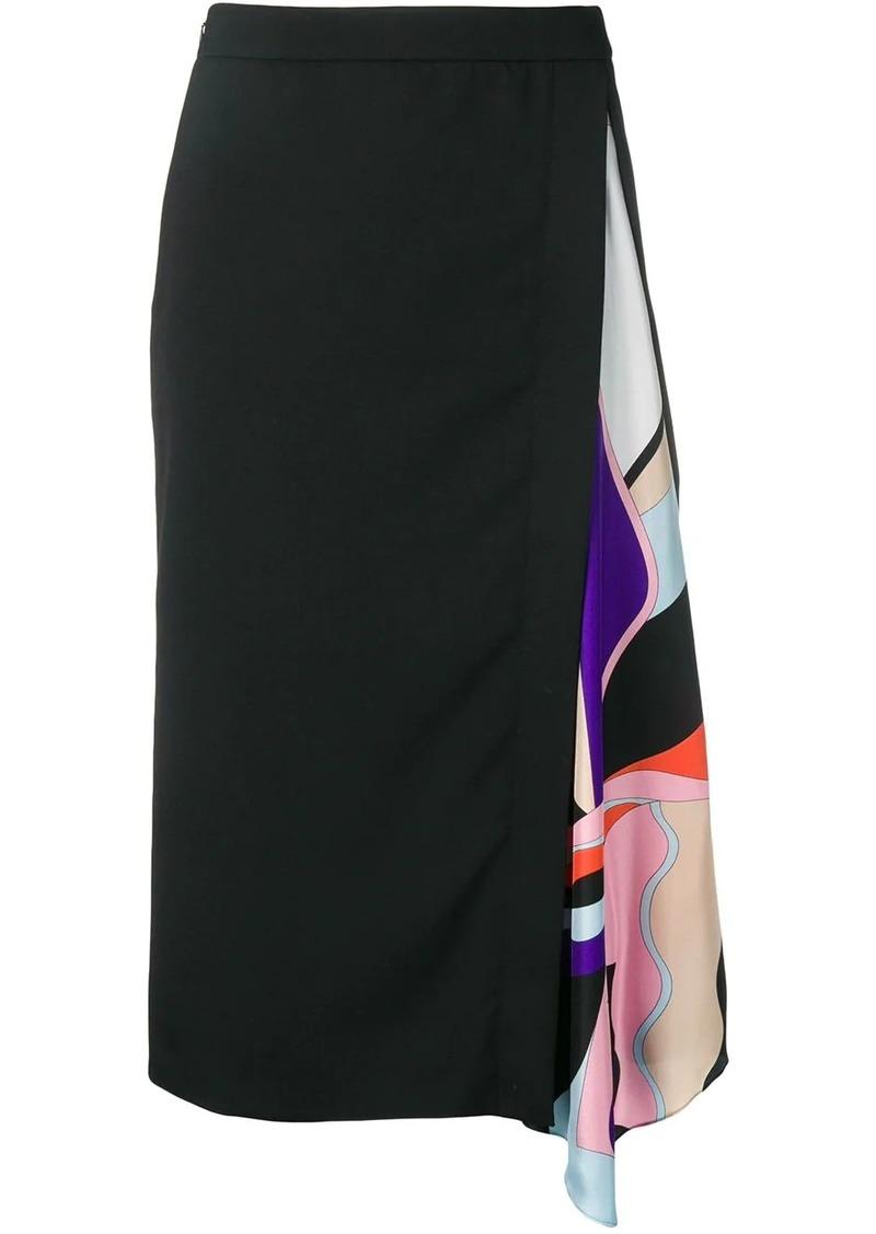 Emilio Pucci Vallauris-Print Insert Skirt