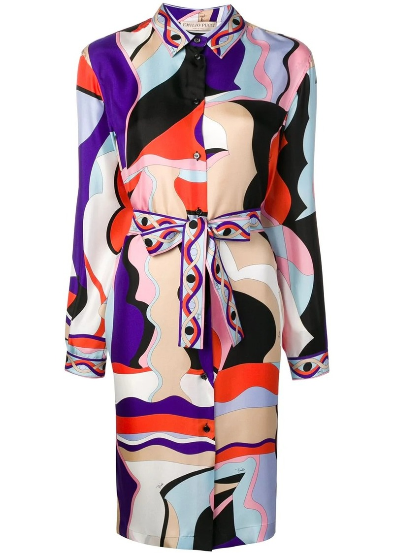 Emilio Pucci Vallauris Print Shirt Dress