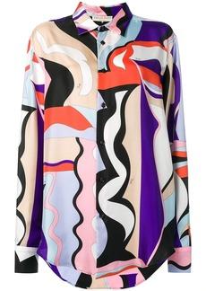 Emilio Pucci Vallauris Print Silk Shirt