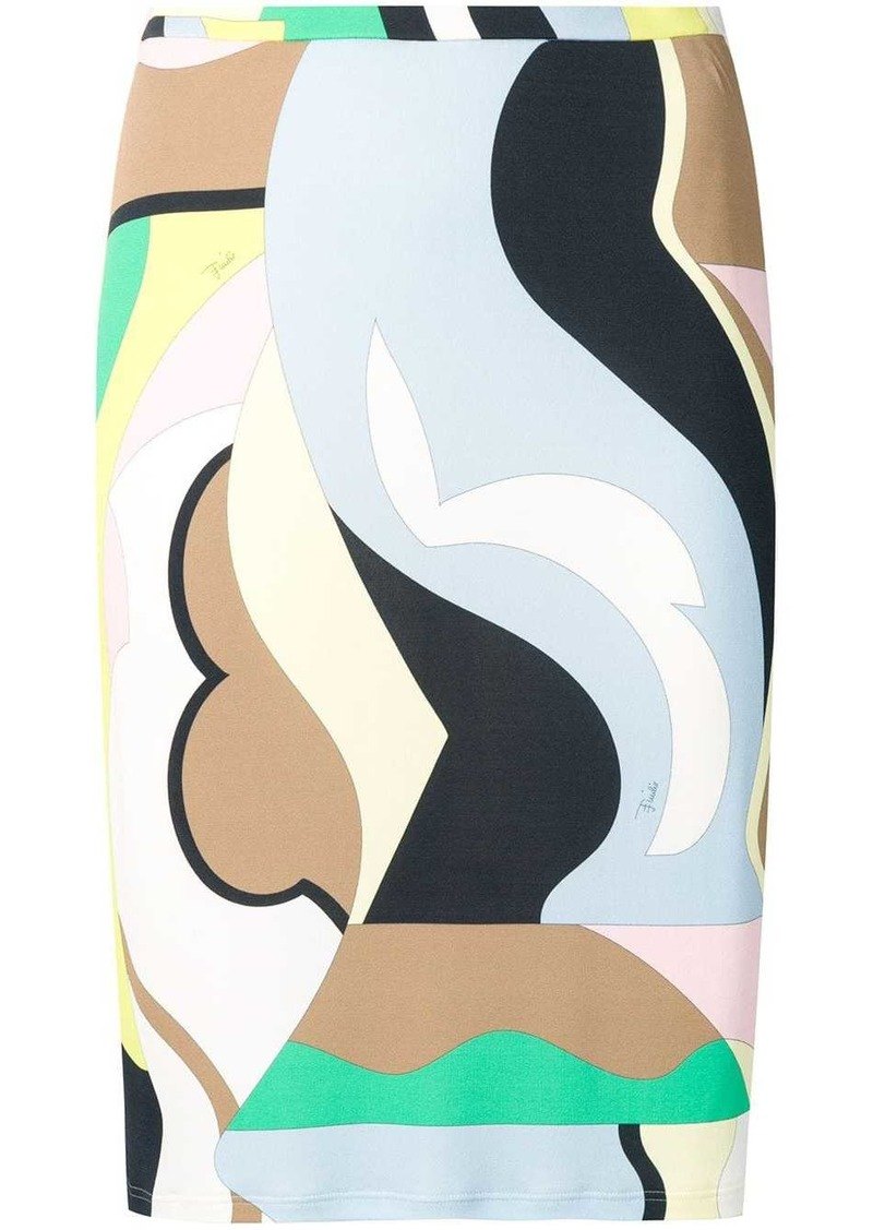Emilio Pucci Vallauris Print Skirt