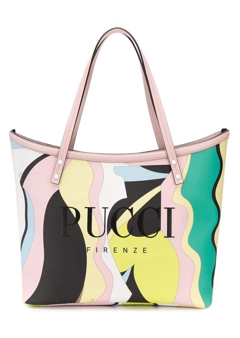 Emilio Pucci Vallauris Print Twist Tote Bag