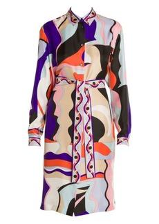 Emilio Pucci Vallauris Silk Twill Shirtdress