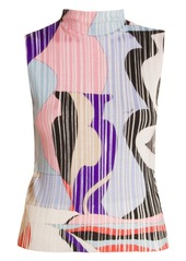Emilio Pucci Vallauris Sleeveless Mockneck Rib-Knit Top