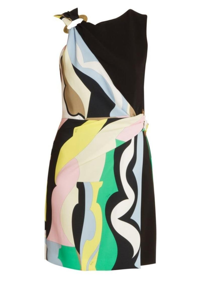Emilio Pucci Vallauris Stretch Cady Wrap Dress