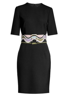 Emilio Pucci Virgin Wool and Silk Dress with Belt