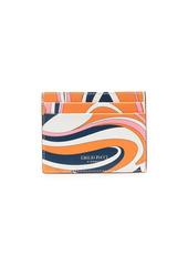 Emilio Pucci Vortici pattern cardholder