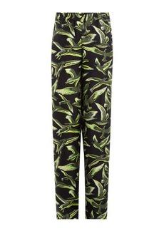Emilio Pucci Wide Leg Silk Twill Pants