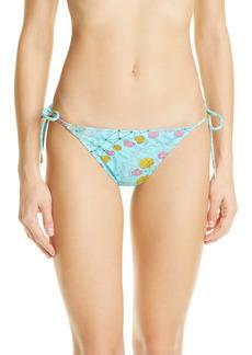 Women's Emilio Pucci Conch Print String Bikini Bottoms