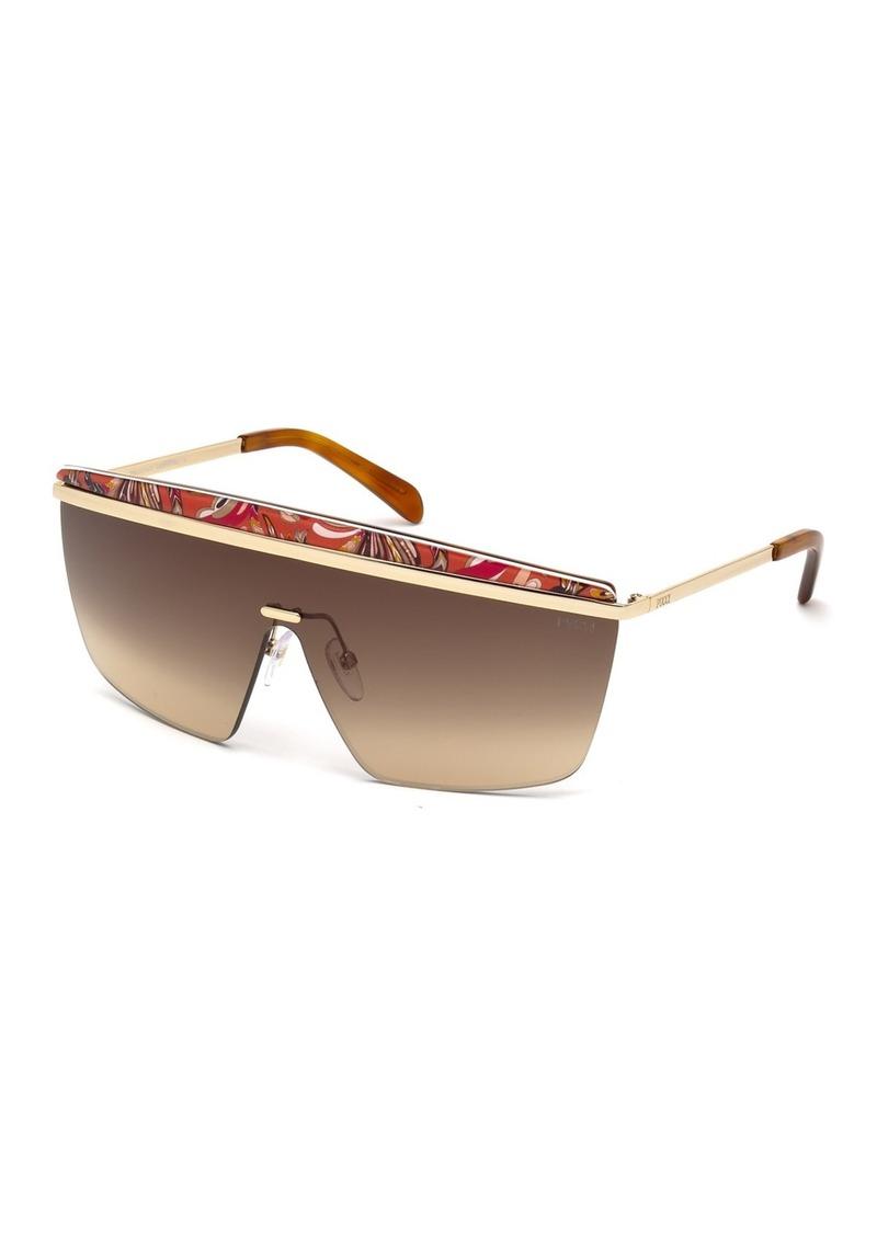 Emilio Pucci 00mm Squared Shield Sunglasses