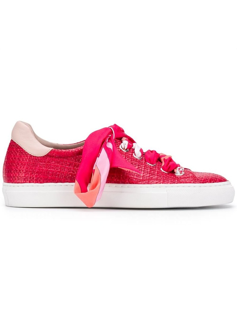Emilio Pucci woven printed laces sneakers