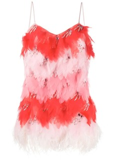 Emilio Pucci x Koché embellished feather top