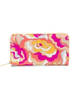 Emilio Pucci zip around abstract wallet