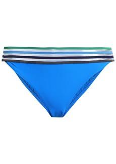 Emma Pake Woman Adriana Mesh-trimmed Low-rise Bikini Briefs Bright Blue