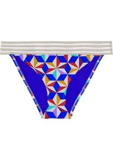Emma Pake Woman Adriana Mesh-trimmed Printed Low-rise Bikini Briefs Multicolor
